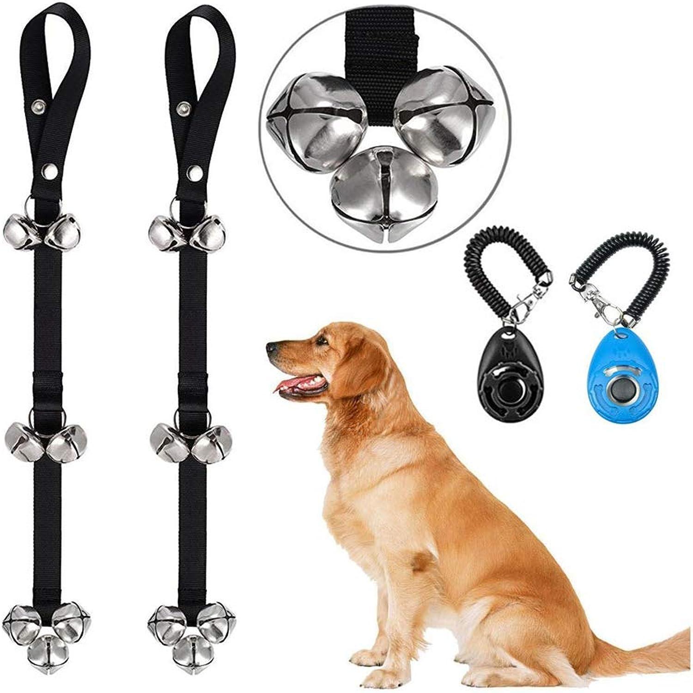 Dog Doorbells for Potty Training, Dog Bell with Doggie Doorbell,Silver Bells,Adjustable Door Bell,Housebreaking