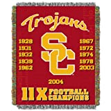 The Northwest Company USC Trojans Commemorative Woven Tapestry Throw Blanket, 48' x 60' Red