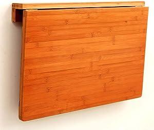 LIN HE SHOP Tavolo da Pranzo Pieghevole da Parete, tavoli in Legno con pareti collegate, Sedia in Legno, Alto carico (Colore : 60X40CM)