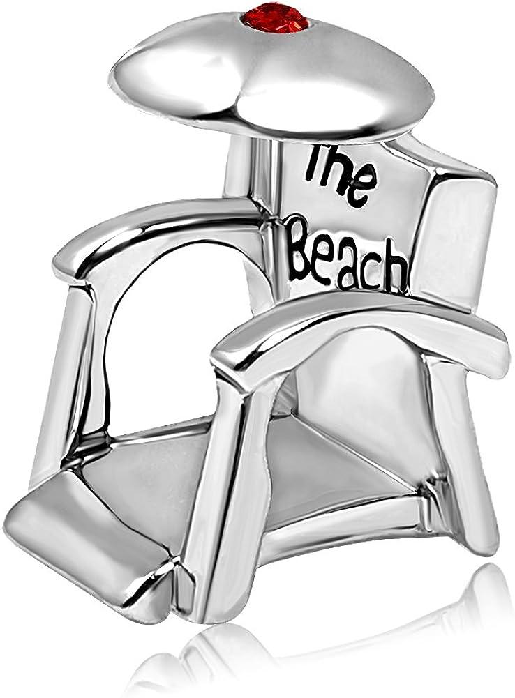 JMQJewelry Holiday Beach Birthday Birthstone Jan-Dec Chair Charms for Bracelets Women Jewelry