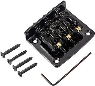 3-String Guitar Bridge Adjustable Brass Zinc Alloy Box Guitar Bridge Additional 4 Picks Screws