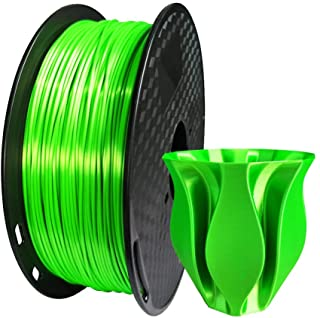 Kehuashina PLA Filament 1.75mm Diameter for 3D Printer - Shiny Metallic Luster Silk Green - 1kg(2.2LB) Silk Pla Spool (Lik...