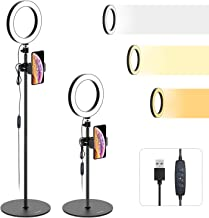 Ring Light with Stand and Cell Phone Holder - Tryone 8