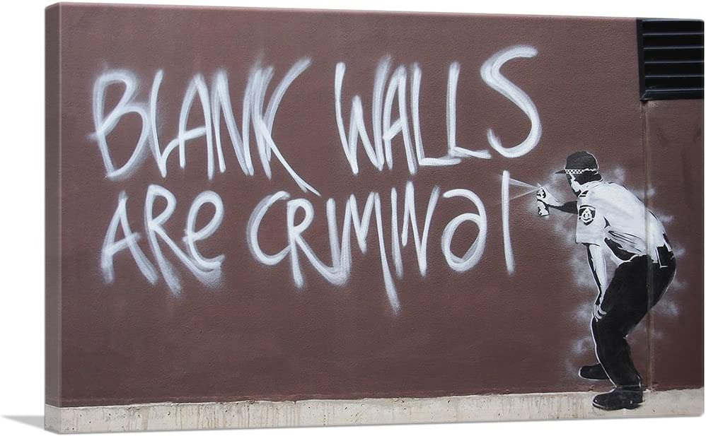 Austin Mall ARTCANVAS Blank Ranking TOP17 Walls are Criminal Canvas - Print Banksy by Art