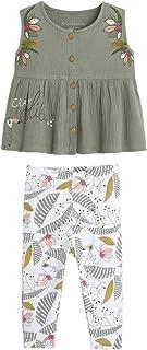 Petit Béguin - Ensemble fille tunique + legging contenant du coton bio Crazy Colibri - Taille - 36 mois