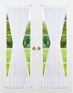 Best lace french door curtains Reviews