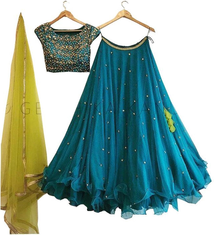 AMIT FASHIONS Indian Lehenga Choli for Women bluee