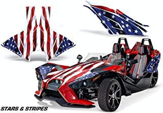 AMR Racing Roadster Graphics Trim kit Sticker Decal Compatible with Polaris Slingshot 2015-2019 - Stars & Stripes