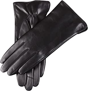 Mens Winter Warm Genuine Leather Gloves Thermal Insulation Lambskin #BXNH