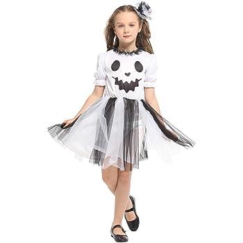 Better-Life Disfraz Fantasma Chica Mueca Disfraz de Halloween ...
