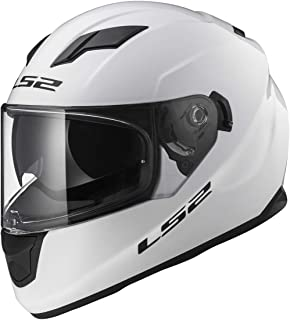 LS2 Helmets Full Face Stream Street Helmet (White - Medium)