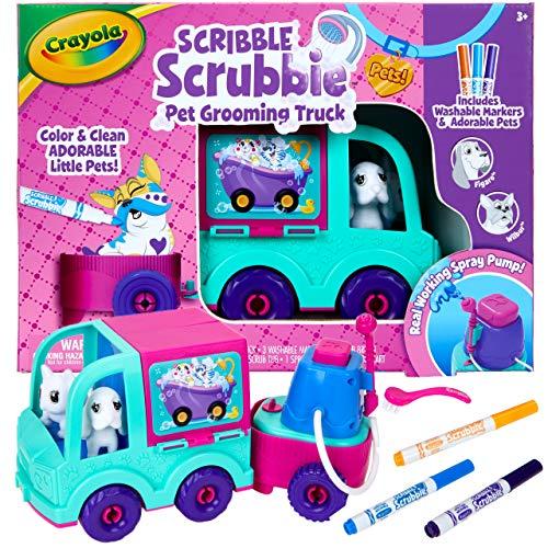 Crayola Scribble Scrubbie Pets Grooming Truck, Toy Pet...