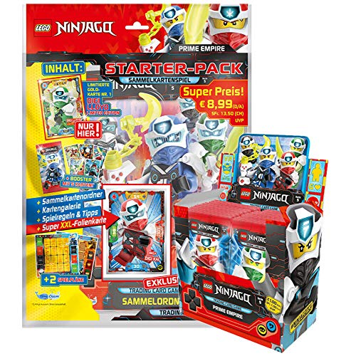 Lego Ninjago - Serie 5 Trading Cards - 1 Starter + 1 Display(50 Booster)-Deutsch