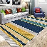 Alfombras Alfombra Juvenil Alfombra de Sala de Estar Moderna de diseño de Tinta Simple Gris Azul Amarillo alfonbras de dormitorios decoración Salon 180*250cm