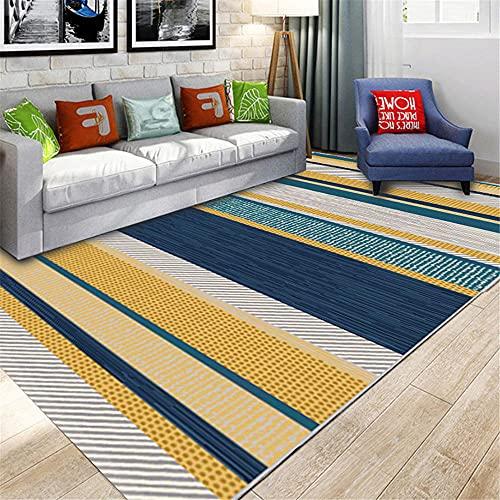 Alfombra decoración Salon Alfombra de Sala de Estar Moderna de diseño de Tinta Simple Gris Azul Amarillo Alfombra Juegos niños alfombras Oficina 120*160cm