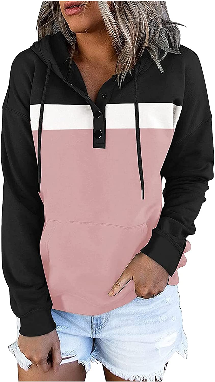 Hemlock Women El Paso Mall OFFer Autumn Hoodies Color Fall Sweatshirts Hooded Block