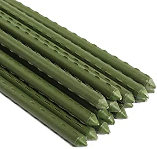 Garden Plant Stakes Post for Tomatoes, Trees, Cucumber, Fences, Beans, Plastic Coated Steel Tube Stakes, 20 Pack (5 Ft)