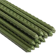 Mr Garden Sturdy Steel GardenStakes 5-Ft Plastic Coated Plant Stakes, 10Packs forClimbing Plants