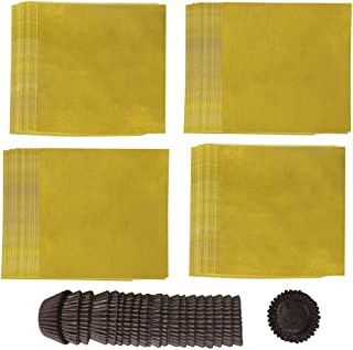 Canflo 400 Pcs Chocolate Wrappers 4 Inch, Foil Candy Wrappers for DIY Candy Chocolate Packaging with 450 Pcs Paper Candy Cups