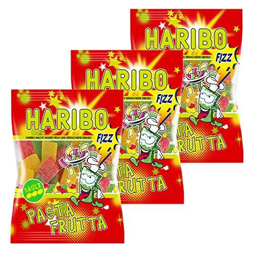 Haribo Pasta-Frutta Fizz, 3er Pack, Gummibärchen, Weingummi, Fruchtgummi, Im Beutel, Tüte, 175 g