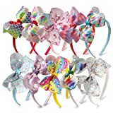 10pcs Unicorn Hair Bows On Headband Pineapple Girl Hairhoop Princess Dance Hairbands