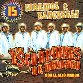 15 Corridos y Rancheras