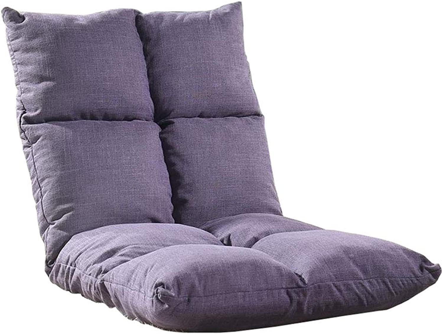 Foldable Floor Chair Adjustable Lazy Lounge Sofa Gaming Couch Backrest Home Meditation (Purple)