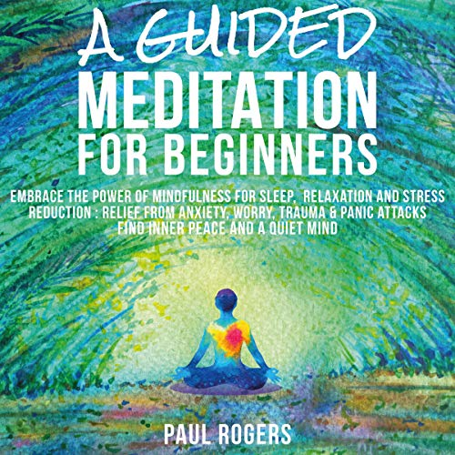 A Guided Meditation for Beginners: Embrace the Power of Mindfulness for Sleep, Relaxation, and Stress Reduction audiobook cover art