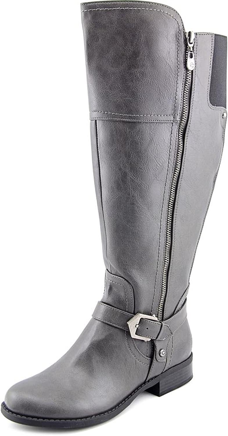 G by Guess Womens Hailee Wide Calf Faux Leather Riding Boots