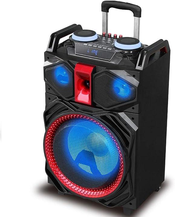 Majestic djb 292 bt usb sd ax – trolley bluetooth dj party speaker 160w, luci led, ingressi usb/sd/aux, 2 ingr 115292_BK