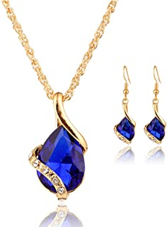 TOPUNDER 1 Set Women Necklace Pendant Drop Earrings Jewelry by