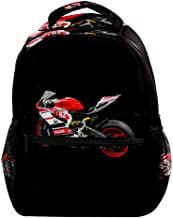 Cool Ducati Bike Backpacks Boys Girls School Book Bag Travel Hiking Camping Daypack Rucksack