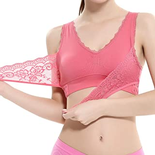 comprar comparacion Sujetador Deportivo para Mujer SHOBDW 2019 Nuevo Cómodo Color Sólido Cuello en V Tank Tops Blusa Encaje Camisole Camisetas...