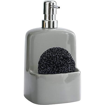 Soap DispenserforKitchenSink - Ceramic Dish Soap Dispenser with Sponge Holder 20 OZ Dish Liquid Dispenser