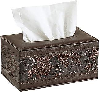 Funytine Organizador Multifuncional de Escritorio de Oficina en casa Tissue Box Holder Almacenamiento de cosméticos Control Remoto Organizador Caddy con Ranura para Tableta Accesorios de inodoro