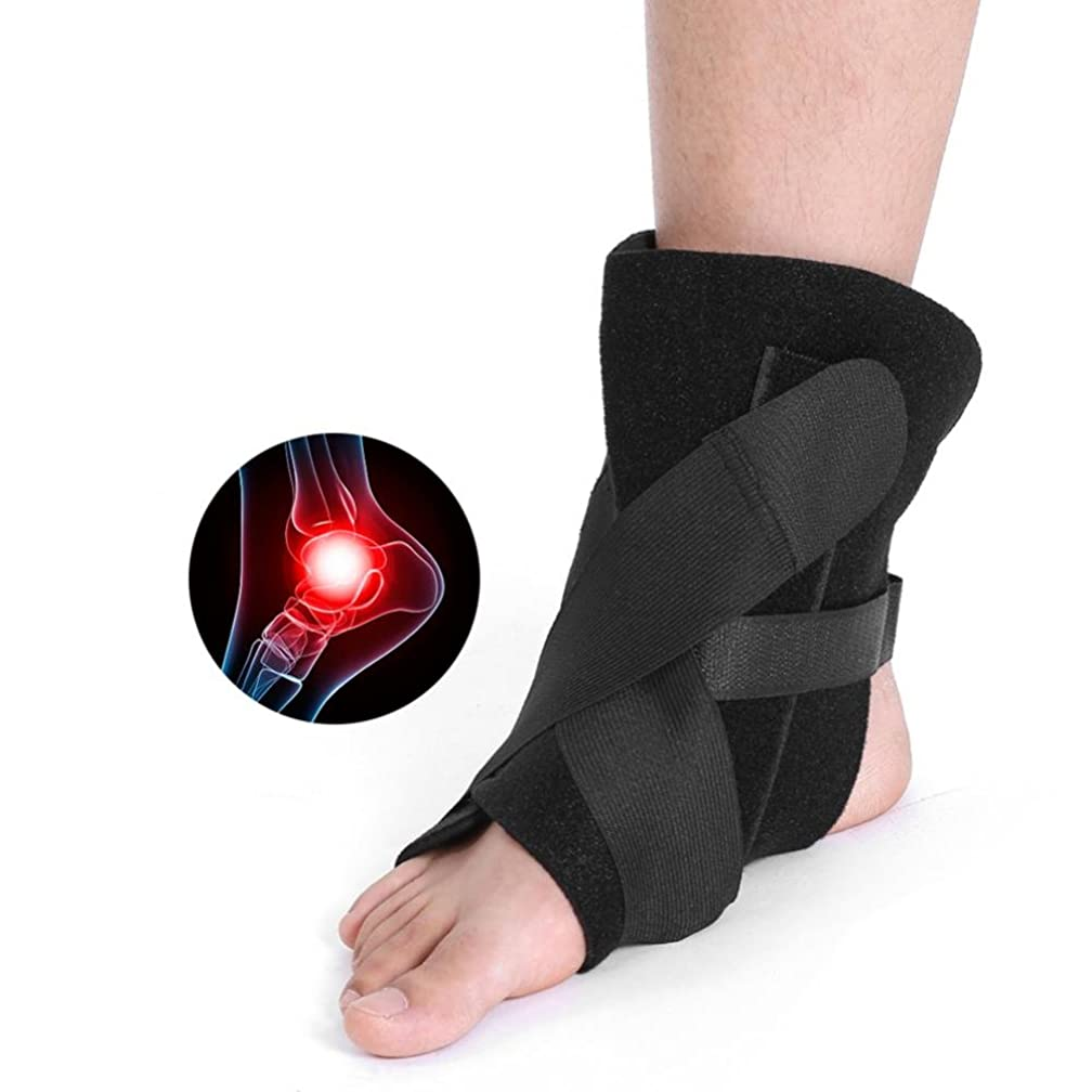 ZJchao Ankle Strap Support, Adjustable Plantar Splint Foot Brace Support Ankle Strap Protector Strephenopodia Orthosis Prevention of Foot Drooping and Alleviating Pain