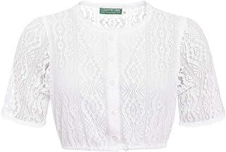 Country-Line Damen Trachten-Mode Dirndlbluse Birte in Weiß traditionell