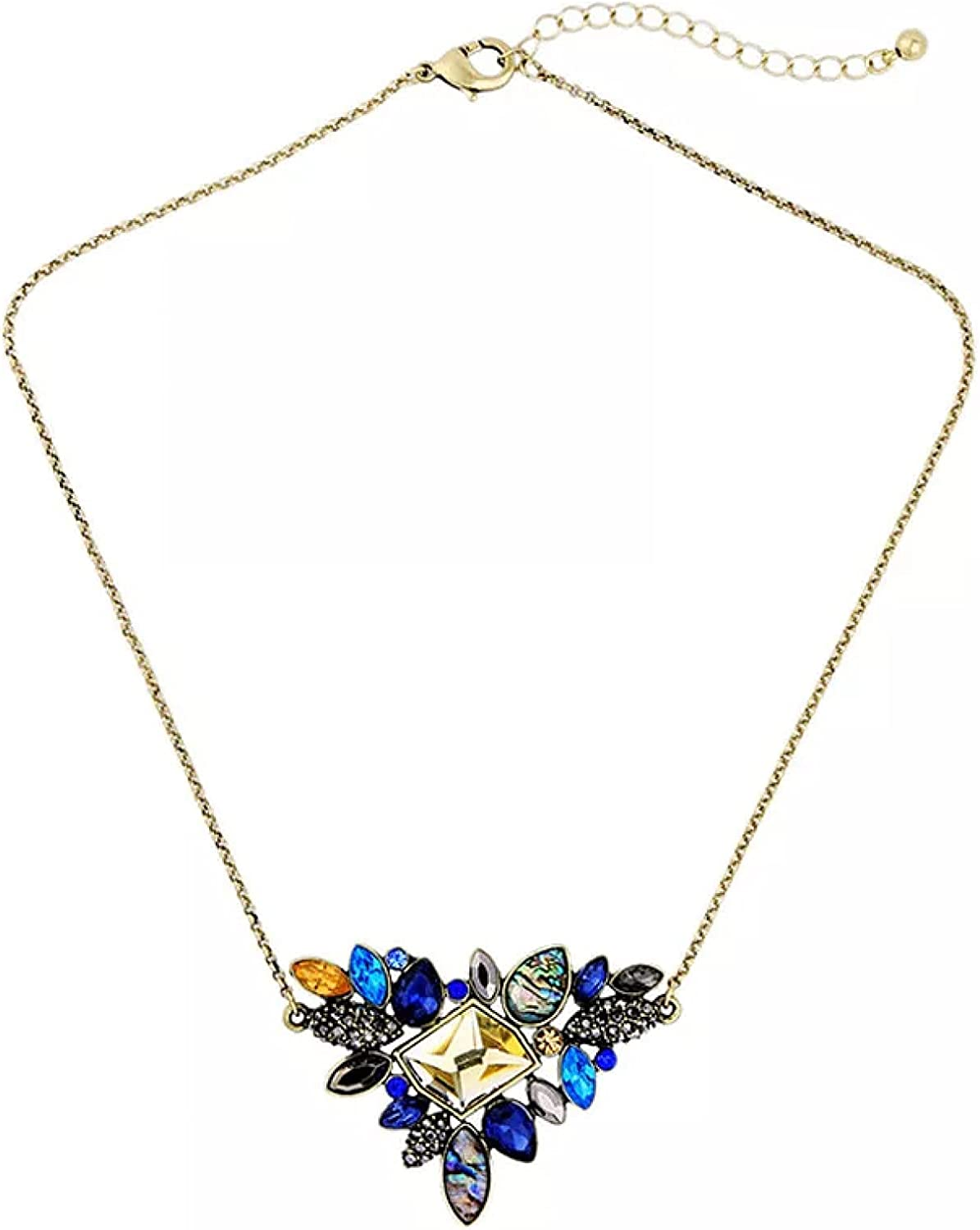 Necklace 2021 Exquisite Rhinestone Pendant Necklace Thin Chain Collar Necklace Jewelry for Women