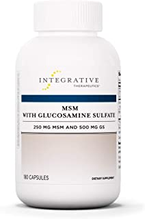 Integrative Therapeutics - MSM with Glucosamine Sulfate - Support Healthy Joint Cartilage - 250 mg MSM and 500 mg GS - 90 Capsules