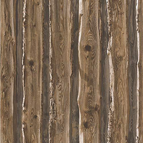 Papiertapete Tapete Holzoptik Holz-Tapete 958371 95837-1 A.S. Création Dekora Natur 6   Braun   Muster (21 x 29,7 cm)