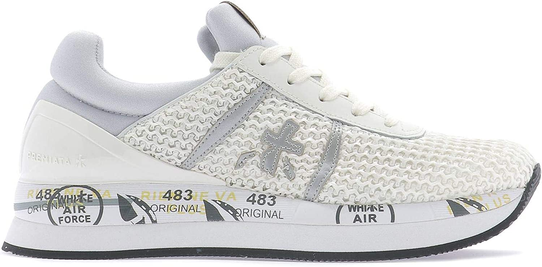 Premiata Women's LIZ3630 White Polyester Sneakers