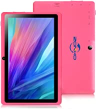 7 inch Tablet with Eye Protection Screen, HD Display, 1G/8G with WiFi, ZONKO Android 8.1 Quad Core 1024x600 Dual Camera with Bluetooth Tablet, Pink
