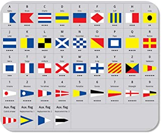 Llsty Mouse Pad for Home and Office International Maritime Signal Nautical Flags Morse 9.7x7.9 Non-Slip Rubber Thickness for Computer Desktop Pcs Laptop