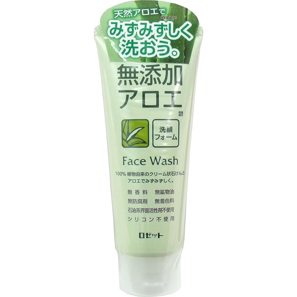 調整可能ショートカット島【ロゼット】無添加アロエ 洗顔フォーム 140g ×5個セット