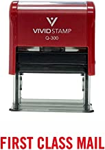 First Class Mail Self Inking Rubber Stamp (Red Ink) - Large