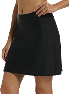 Women UPF 50+ Active Skirted Shorts Swimming Skorts Capris with Skirt Sun Protection