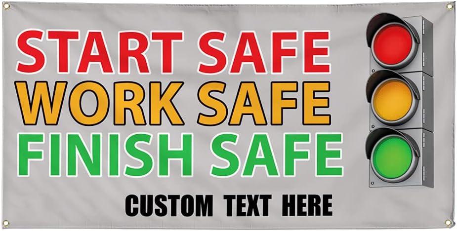 Custom Department store Vinyl Banner Multiple Baltimore Mall Sizes Work Start Safe Advertis