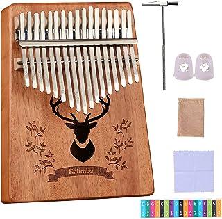 Pouce Piano, Doigt Piano, Clé Kalimba 17, Marimba, Solide Instrument de Musique à Main Kalimba avec Marteau Mélodique pour...