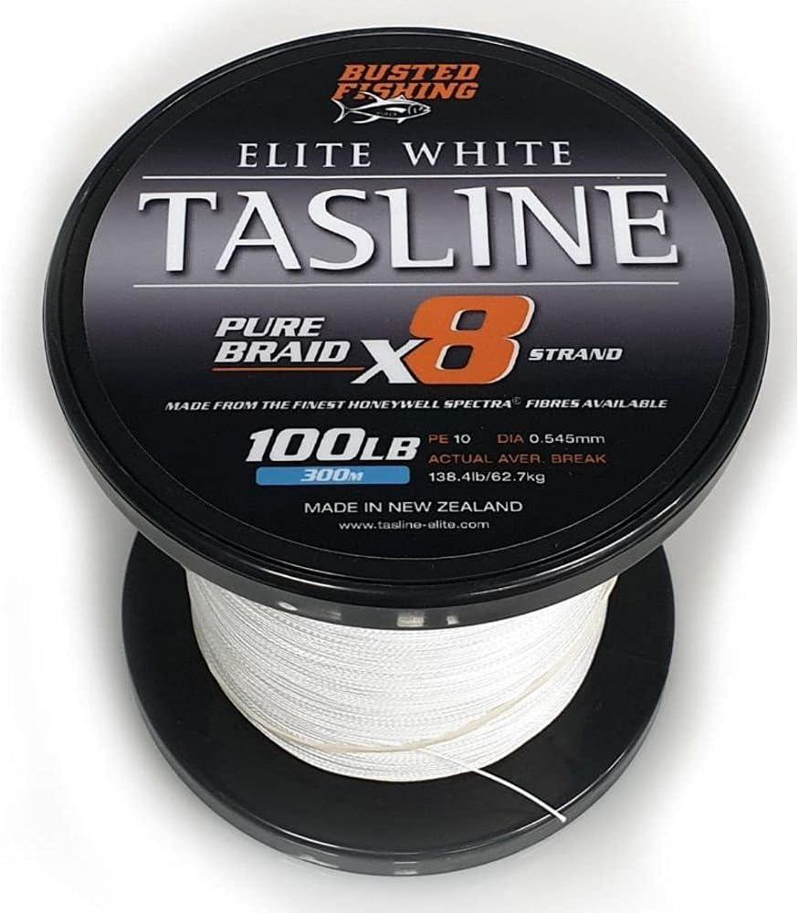 Tasline Elite Kansas City Mall White Pure Spectra Power 8-Strand High Translated Braided PE