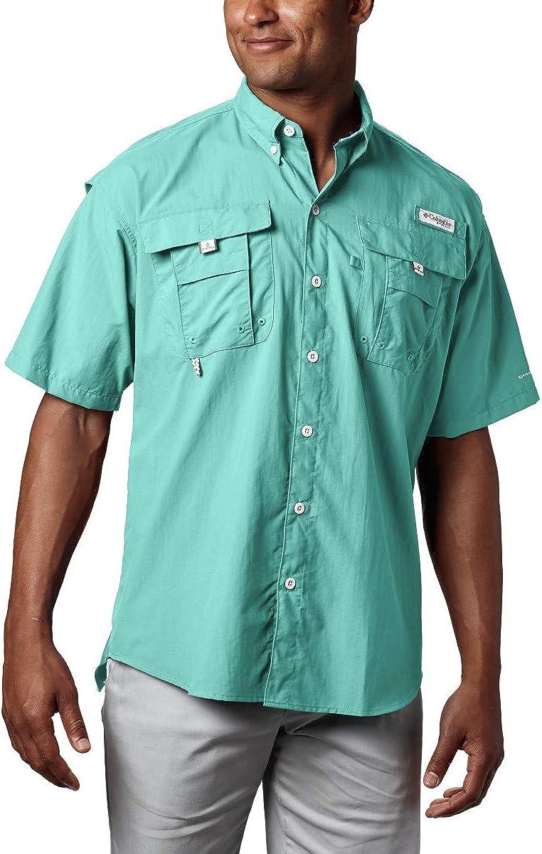 Columbia Men's PFG Bahama Ii UPF Short Sleeve Fishing 30 Challenge the lowest price of Japan ☆ Shirt Tulsa Mall